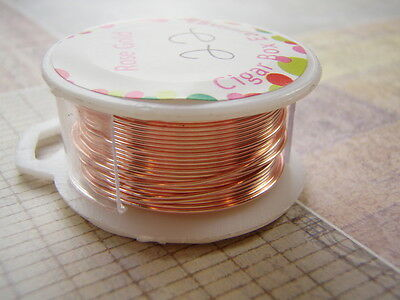 Rose Gold Plated Wire Round Dead Soft Copper Core 18 to 28 Gauge Non Tarnish