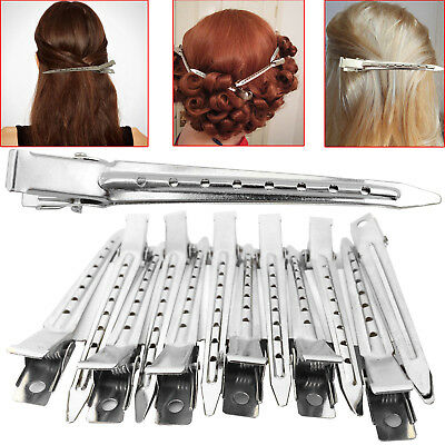 Metal Hair Sectioning Clips Sprung Strong Grip Hairdressing Hair Clip 24 Pieces
