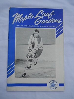 STANLEY CUP FINAL 1964 April 14 DETROIT RED WINGS vs TORONTO MAPLE LEAFS PROGRAM