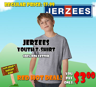 Jerzees Youth T-Shirt - Athletic Heather