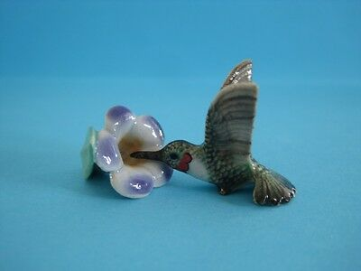 NEW LITTLE CRITTERZ ''RUBY'' HUMMINGBIRD FIGURINE ON FLOWER WITH BOX *Mint*