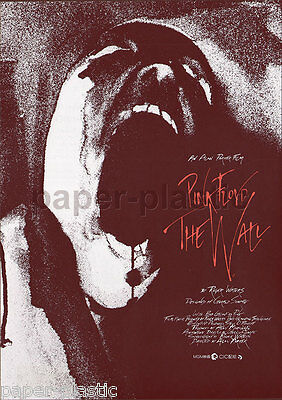 PINK FLOYD -- THE WALL Alan Parker Bob Geldof movie flyer Japan 1983