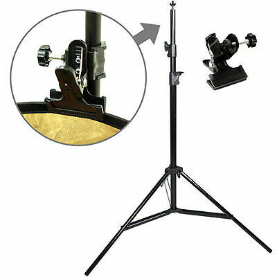 Lusana Portable Photography Reflector Disc Holder 2 in 1 Mount C-Clamp Stand
