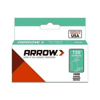 Arrow Fastener 208 T-20 Staples, 1/2-In., 1000-Ct. - Quantity 1