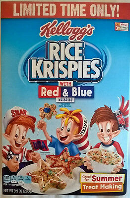 LIMITED TIME ONLY! Kellogg's Rice Krispies with Red & Blue toasted rice cereal