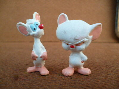 "vintage pinky and the brain 1,2"" mini figures lot Premium Promo Argentina"