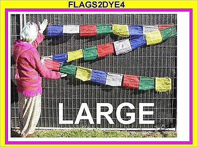 prayer flags LARGE tibetan tibet wind horse flags + FREE TIBET sticker graphic