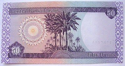 2003 IRAQ DATE PALMS 50 Dinars Currency Paper Money Bank Note