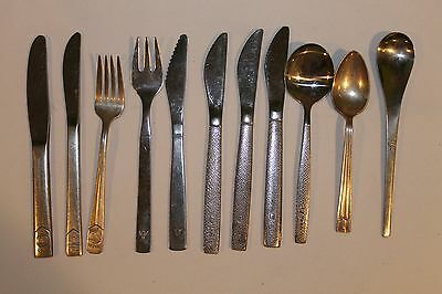 Vintage Twa American Airline United Silver Spoon Fork Lot 11 Pcs