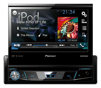 """Pioneer AVH-X7750BT 7"""" Single-din fold out screen with Bluetooth and USB"""
