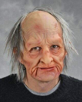 Realistic Old Man Mask SPFX Halloween Soft Latex Fancy Dress Party Accessory