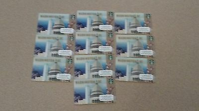Lot of 10-2016 Washington DC Starbucks Gift Card NEW AND IN STOCK