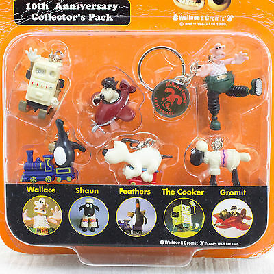 Wallace & Gromit 10th Anniversary Collector's Pack Figure Ardman JAPAN ANIME
