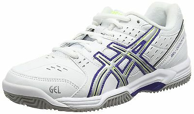 ASICS Gel-dedicate 3 Clay Women's Tennis Shoes White/Royal Blue/Silver 0143 New