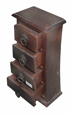 Sheesham Wood Solid 4 Cabinet Box Made With 41 Cms Height