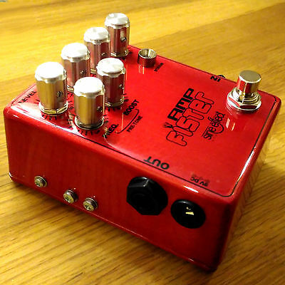 """AmpFister overdrive pedal - handmade - """"Pre-Tone"""" feature"""