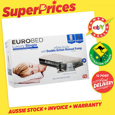 EUROBED GENUINE◉LUXURY SINGLE EURO BED◉Manual Pump◉As Seen On TV◉Sydney PickUp◉