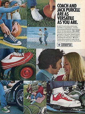 1974 Converse Coach Suede & Canvas Oxford & Jack Purcell Oxford & Rally Shoe Ad