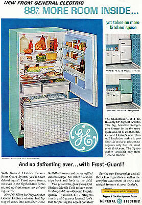 1954 General Electric GE Refrigerator Freezer Frost Guard Print Ad