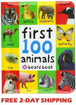 Toddler Learning Book First 100 Animals Board Child Toy Early Baby Kid Education