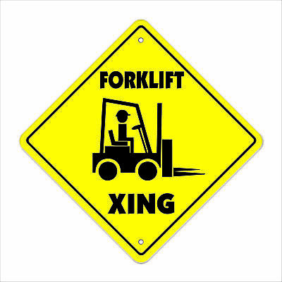 FORKLIFT CROSSING Sign xing gift novelty fork lift hydraulic pallets fluids