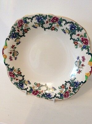 Royal Cauldon Victoria Large Handled Cake Plate