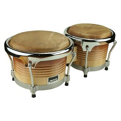 "New Drumfire Bongo Drum Wood Bongos Hand Drum 7.5"" & 8.5"""