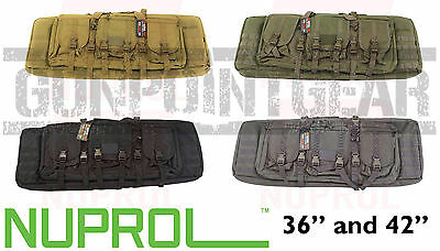 """Nuprol PMC Deluxe Soft Rifle Case - Padded w/ pockets & molle - 36"""" & 42"""""""