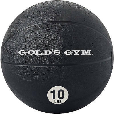 Golds Gym Medicine Ball Weighted Rubber Workout Exercise Fitness Ball 10 lb New