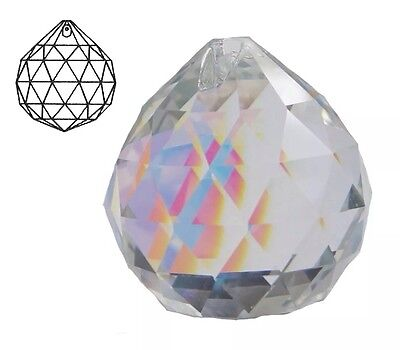 40mm Glass Crystal Faceted Chandelier Light Lamp Decoration Drop Pendent Prism