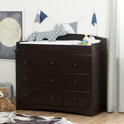 South Shore Furniture Angel Changing Table/Dresser with 6 Drawers - Espresso