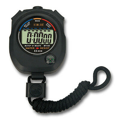 1Pc New Hot Handheld Stopwatch Seconds Stop Running Watch Counter Timer High
