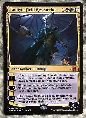 TAMIYO, FIELD RESEARCHER Eldritch Moon Planeswalker Mythic Rare with Emblem