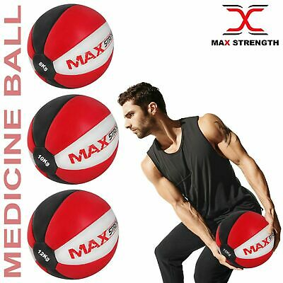 Medicine Ball Heavy Duty Rex Leather 3kg 5kg 8kg Aerobics Fitness Gym Exercise