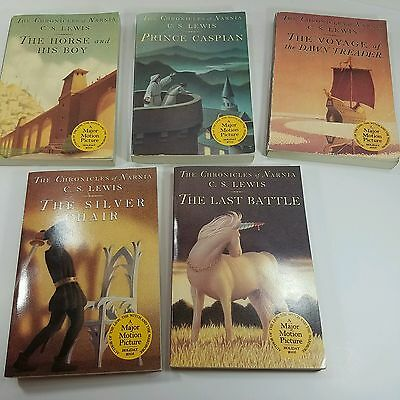 Used Book Lot- CS Lewis - The Chronicles of Narnia Volumes 3-7 - Paperback
