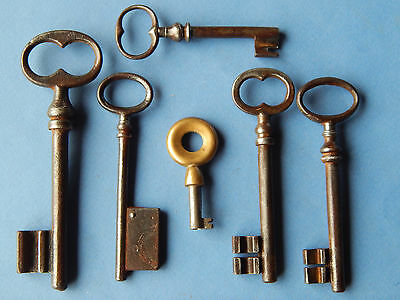lot 6 antique French keys ,lock ,doors ,furniture ,cabinet ,skeleton ,castle #F