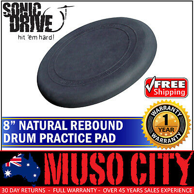 "New Sonic Drive 8"" Natural Rebound Drum Practise Pad for Beginner"
