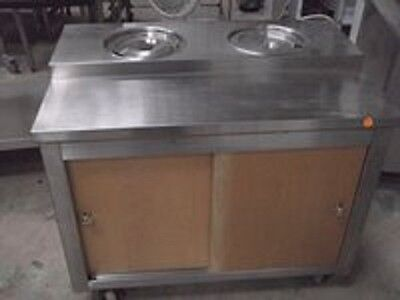 Commercial Catering Stainless Steel Cabinet with 2 Dry Bain Marie K1469