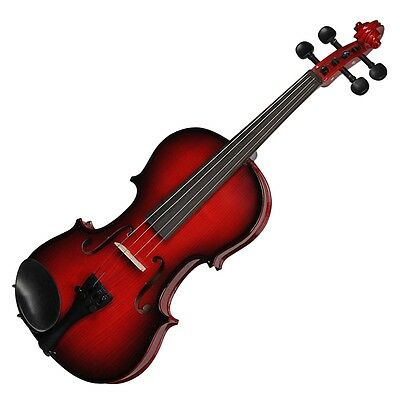 New Steinhoff Full Size 4/4 Beginner Student Violin with Case (Wine Red)