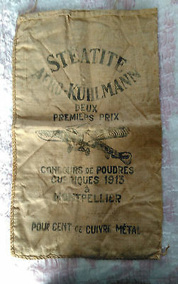 Antique vintage old  French grain sack brocante find upholstery? cushion? wall?