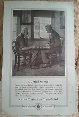 Vintage Advertising Bell Telephone Poster Board George French Photo! Very Nice!