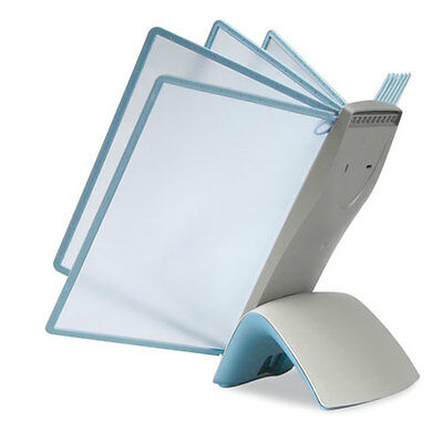 Durable SHERPA Style Desk Reference System, 20 Sheet Capacity, Light Blue