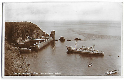 Vintage Postcard. R.P. Creux Harbour From Les Laches, SARK.  Used.  Ref:71303