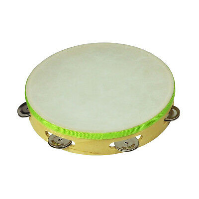 """New Drumfire 9"""" Wooden Headed Tambourine Kids Percussion Rhythm Toy Music"""
