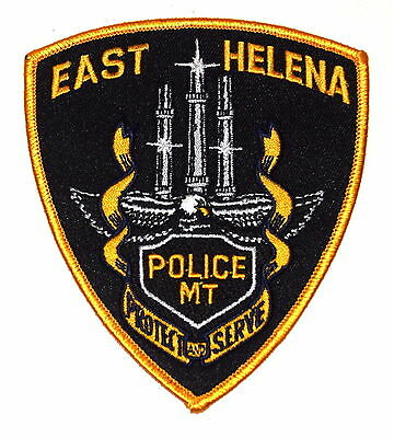 EAST HELENA MONTANA MT  Police Sheriff Patch MINGING SMELTER STACKS ~