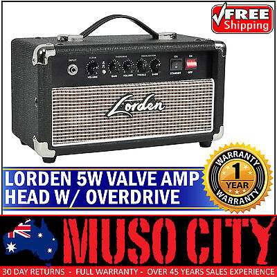 New Lorden 5 Watt Electric Guitar Valve Amplifier Head Tube Amp with Overdrive