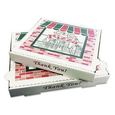 PIZZA Box Takeout Containers, 14in Pizza, White, 14w x 14d x 2 1/2h, 50/Bundle
