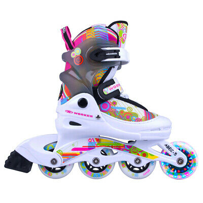 Kinder Inlineskates Worker Picola LED Leuchtrolle - Gr. 26-29, 30-33 verstellbar