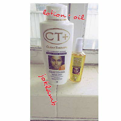 CT+ CLEAR THERAPY EXTRA FAST ACTION  LOTION 500ML AND OIL RESULTS IN 10 DAYs