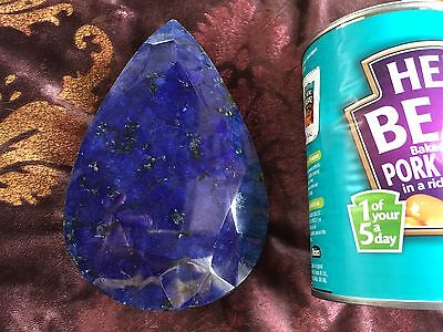 Very Large Natural Blue Sapphire Paperweight. 4860 cts. 975 gms. Superb!